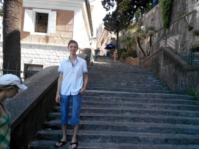Каменная лестница в Герцег-Нови
