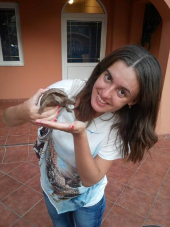 Фото с черепахой на руках