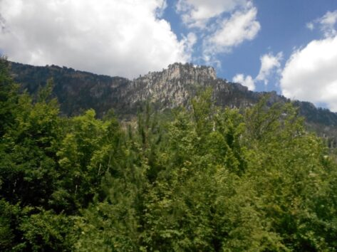 Горы в каньоне реки Тара