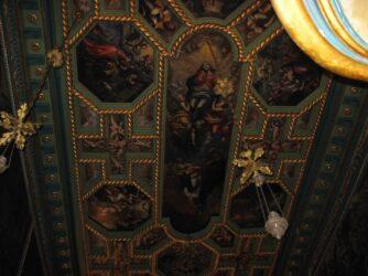 Свод внутри церкви Божья Матерь на Скале