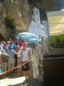 Черга паломників до монастиря Острог