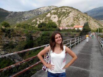 Річка Морача. Міст через каньйон