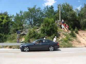 Старая тарзанка у моста Джурджевича Тара