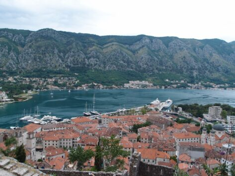 Вид на Котор и Которскую бухту с высоты