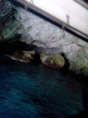Голубая пещера внутри