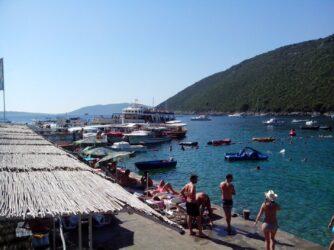 Вид на пристань пляжа Жаница