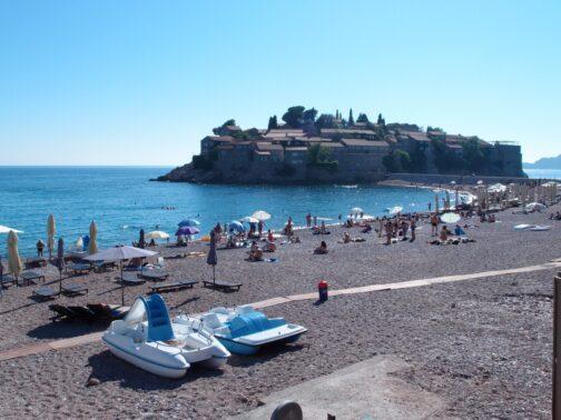 остров Святого Стефана фото пляжа