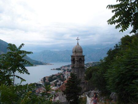 Вид на Котор с вершины горы