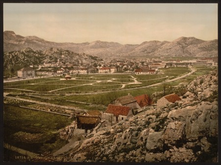 Историческое фото города Цетинье