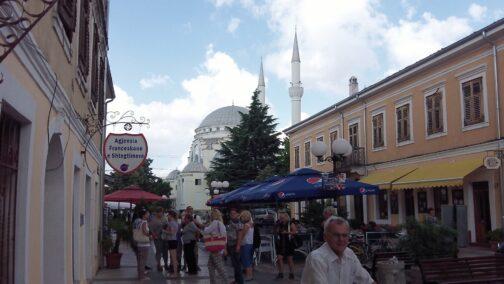 Вулички в місті Тірана, столиця Албанії