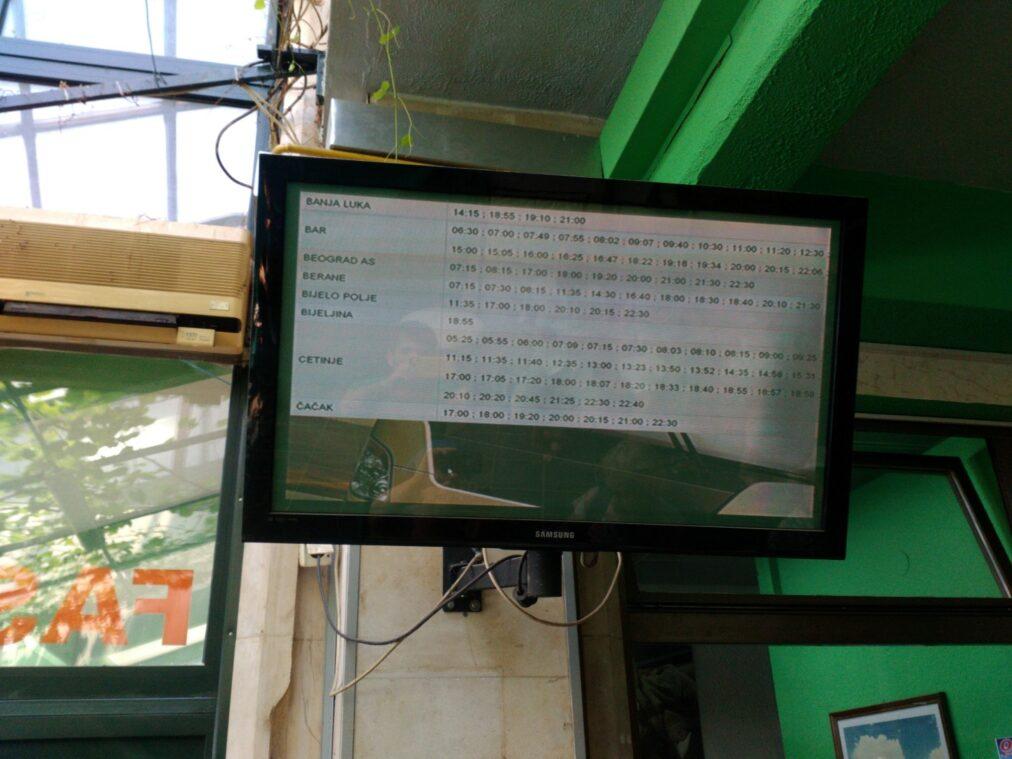 Точное расписание автобусов из Будвы