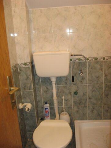 Унітаз і душова кабінка в номері