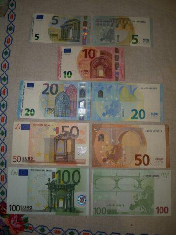 Валюта Черногории купюры евро