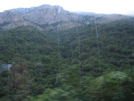 Железная дорога в горах Черногории