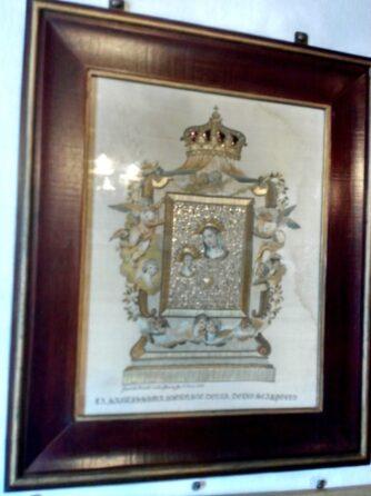 Ікона, вишита з волосся в Госпа од Шкрпела