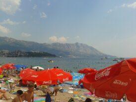 Количество людей на Славянском пляже