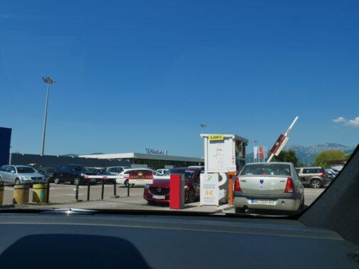 Парковка в аэропорту Тиват