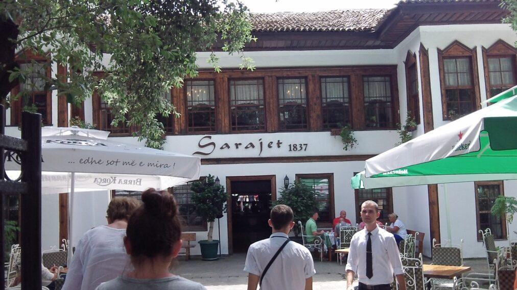 Ресторанчик, где мы обедали в Тиране