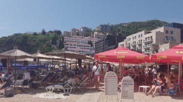 Вид на Старый город с пляжа