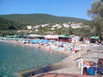 Море біля пляжу Жаниця