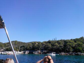 Подплываем к пляжу Жаниц
