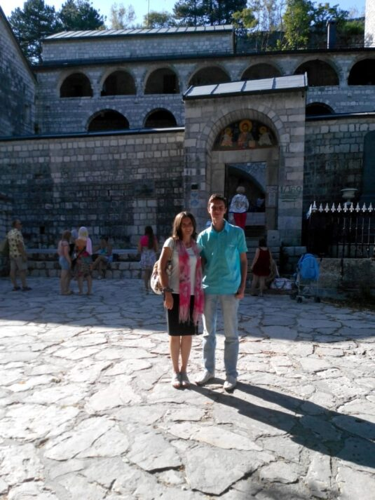 Вхід в Цетінський монастир