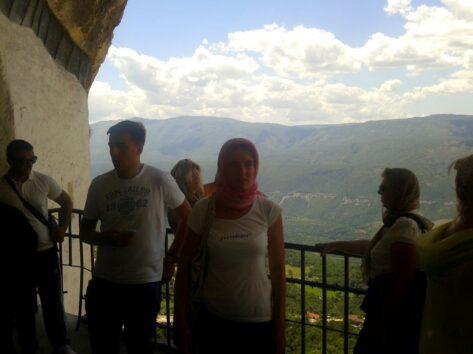 Вид с монастыря Острог