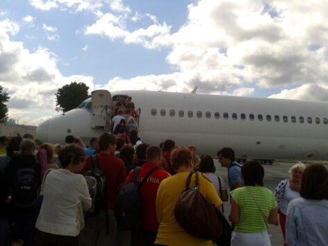 На черногорской земле в аэропорту Тиват