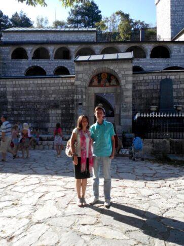 Вход на территорию Цетинского монастыря в Черногории