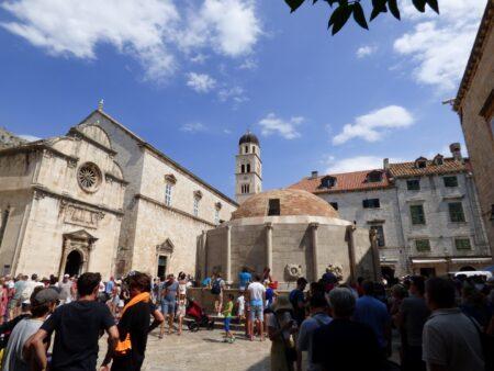 Большой фонтан Онофрио и Францисканский монастырь в Дубровнике, Хорватия