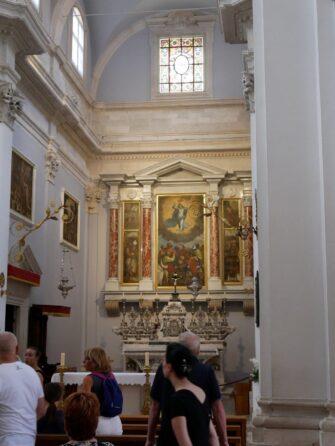 Работа Тициана в Соборе Вознесения Девы Марии в Дубровнике, Хорватия