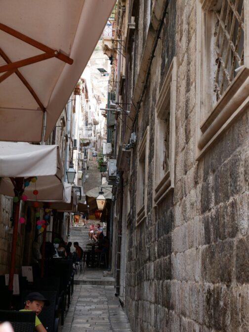 Узкие улочки Дубровника, Хорватия