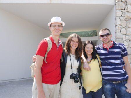 Ми з Олександром на індивідуальній екскурсії в Липську печеру