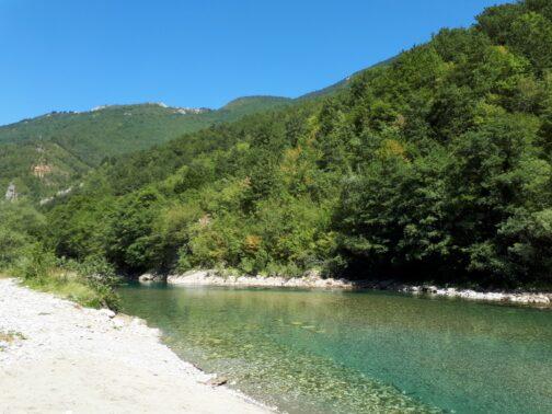 Место старта рафтинга в Черногории