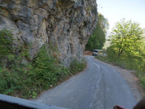 Поездка после границы с Боснией и Герцеговиной на рафтинг