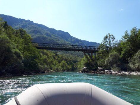 Заключительная часть сплава, рафтинг в Черногории