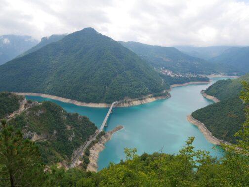 Пивское озеро с высоты