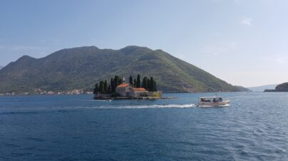 Вид на остров Святого Георгия в Боко Которской бухте