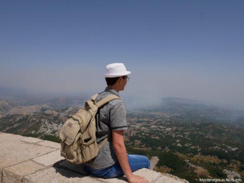 Панорама з вершини гори Ловчен в Чорногорії