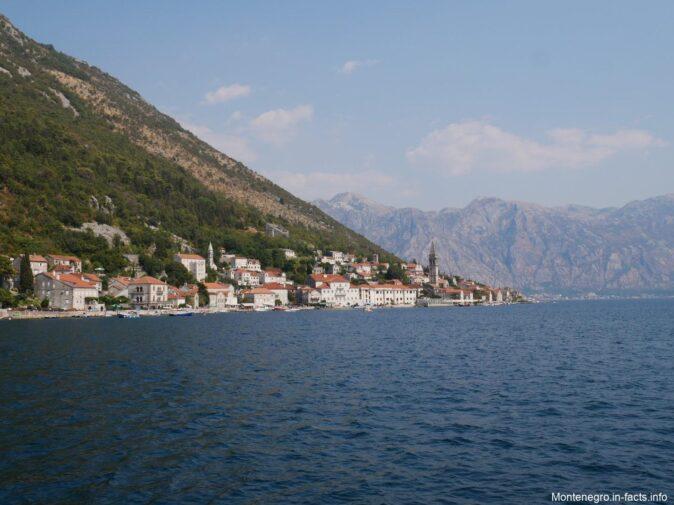 Вид на Боко Которский залив в Черногории